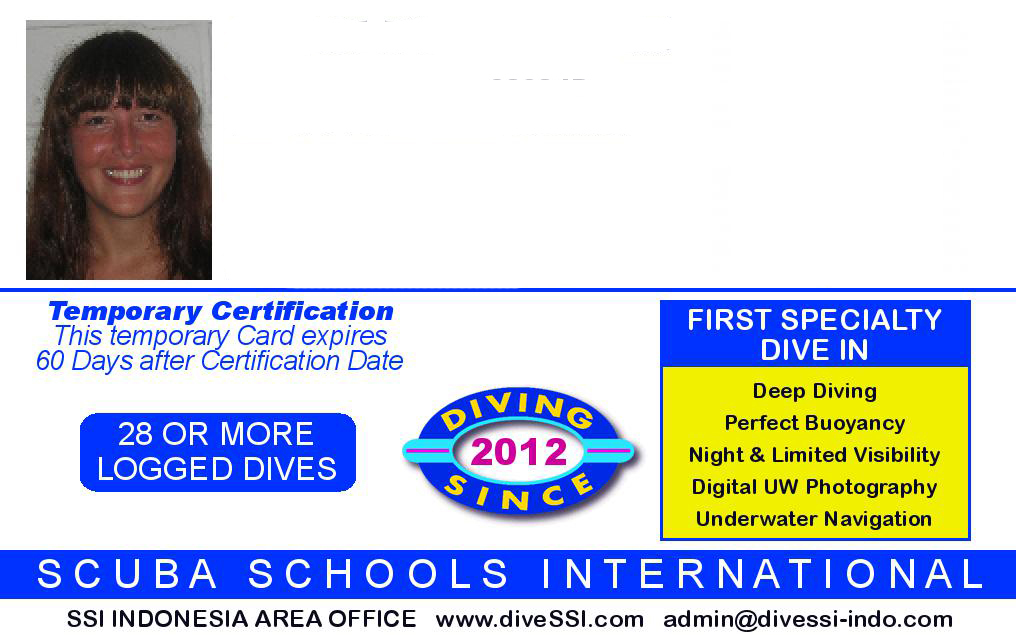 All the dives can be counted as the 1st dive of the specific specialty course and will be printed on your certification card like picture below:
